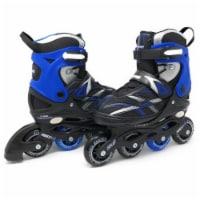 Chicago Skates CRSMA7B-MD Black & Blue Medium Boys Adjustable Inline Skates - Size J13-4 - 1