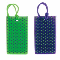 Travel Smart Printed Jelly Tags - Green / Blue
