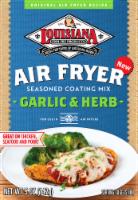 Louisiana Fish Fry Air Fryer Garlic & Herb Seasoned Coating Mix - 5 oz