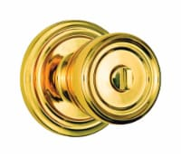 Brinks Push Pull Rotate Barrett Polished Brass Entry Knob ANSI Grade 2 KW1 1.75 in. - Case - Count of: 1