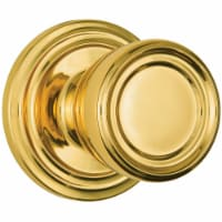 Brinks Push Pull Rotate Barrett Polished Brass Passage Knob ANSI Grade 2 KW1 1.75 in. - Case - Count of: 1