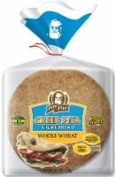 Papa Pita 100% Whole Wheat Greek Pita Flat Bread 6 Count
