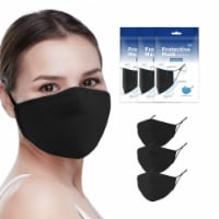 Grand Fusion Adult Non-Medical Mask with Filter - 3 PACK Black - Each