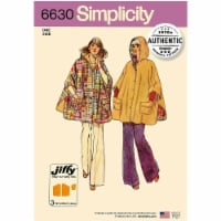 Simplicity Patterns UV6630OS Misses Vintage 1970s Jiffy Poncho - One Size - 1