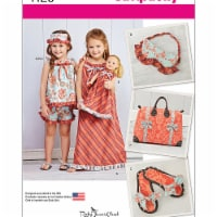 Simplicity Patterns US1129A 3-8 Girls Dress or Top Shorts Slippers 18 in. Doll Dress - 1