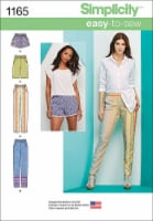 Simplicity Misses Pull-On Pants & Shorts-6-8-10-12-14 - 1
