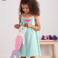 Simplicity Patterns US8564A 3-7 Dress, Top, Shorts & Bag Girls - 1