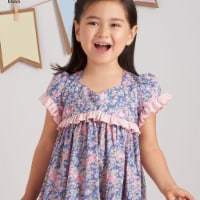 Simplicity Patterns US8565A 3-7 Ruby Jeans Dresses & Purses Girls