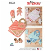 Simplicity Baby Hat, Blanket, Bib, Booties & Animal-ALL SIZES - 1