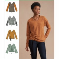 Simplicity US8950H5 Womens Knit Sweater Tops with Variations, Size H5 - 1
