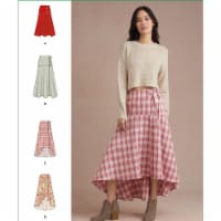 Simplicity US8958K5 Sewing Pattern Womens Wrap Skirts, Size K5 - 1