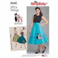 Simplicity Misses Vintage Skirt & Cummerbund-16-18-20-22-24 - 1