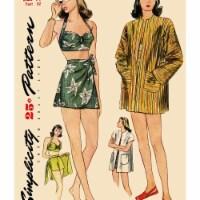 Simplicity US8932P5 Womens Vintage Bikini Dress, Size P5