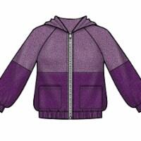 Simplicity Patterns US8999K5 7-12 Childrens & Girls Knit Hooded Jacket - 1