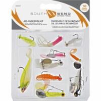 SouthBend 10-Piece Jig & Spin Fishing Lure Kit SBJIGKIT - 1