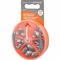 South Bend® Egg Sinker and Split Shot Assortment - 54 pc