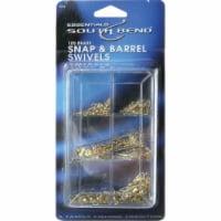 South Bend® Brass Snap & Barrel Swivels - 105 pc