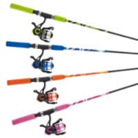South Bend® Worm Gear Medium Spin Combo Fishing Pole - 2 pc