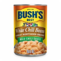 Bush's Best White Chili Beans Great Northern Beans in Mild Chili Sauce