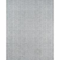 Erin Gates EASTOEAS-2GRY7696 Hand Woven Easton Rectangle Area Rug, Grey - 7 ft. 6 in. x 9 ft. - 1