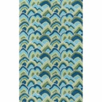 Madcap Cottage EMBRAEMB-1GRN2380 2 ft. 3 in. x 8 ft. Embrace-1 Hand Tufted Runner Rug - Green