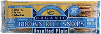Edward & Sons Organic Unsalted Plain Brown Rice Snaps