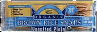 Edward & Sons Organic Unsalted Plain Brown Rice Snaps - 3.5 oz