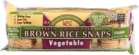 Edward & Sons Brown Rice Snaps Vegetable Flavor