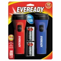 Truitt Brothers Eveready Led Flashlight - Red/Blue - 2 ct