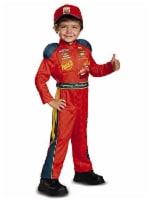 Disguise Cars 3 Lightning Mcqueen Classic Toddler Costume, Red, Medium (3T-4T)