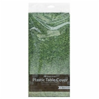 Creative Converting All Over Print Plastic Table Cover - Green
