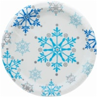 Party Creations Snowflake Plates - White/Blue