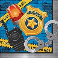 Creative Converting 300930 Police Party Lunch Napkin - 16 Piece