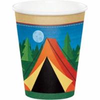 Creative Converting 329319 9 oz Camp Out Hot & Cold Paper Cups, 8 Count