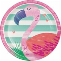 Creative Converting 332421 7 in. Pineapple Party Round Dessert Plates, 8 Count - 8