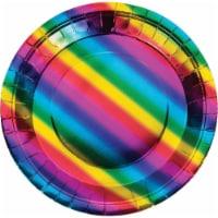 CEG 268449 Metallic Rainbow Lunch Plate - 8 Piece