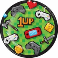 Creative Converting 336034 Video Game Party Dessert Plates, 8 Count - 8
