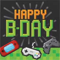 Creative Converting 336036 Video Game Party Birthday Napkins, 16 Count