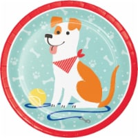 Creative Converting 336044 Dog Party Paper Plates, 8 Count - 8