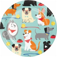 Creative Converting 336045 Dog Party Dessert Plates, 8 Count - 8