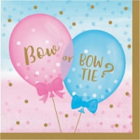 Creative Converting 336066 Gender Reveal Balloons Napkins, 16 Count