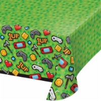 Creative Converting 336679 Video Game Party Plastic Tablecloth