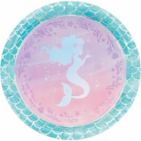 Creative Converting 336704 Iridescent Mermaid Party Paper Plates, 8 Count - 8
