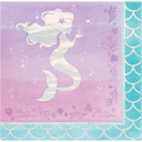 Creative Converting 336715 Iridescent Mermaid Party Napkins, 16 Count