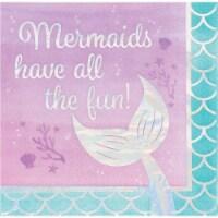 Creative Converting 336717 Iridescent Mermaid All The Fun Napkins, 16 Count