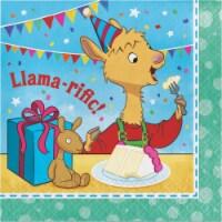 Creative Converting 338716 Llama Happy Birthday Napkins, 16 Count