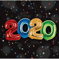 Creative Converting 339043 New Year Balloons Low-Count Beverage Napkins