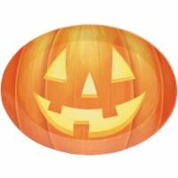 Creative Converting 339321 10 x 14 in. Pumpkin Oval Plastic Tray