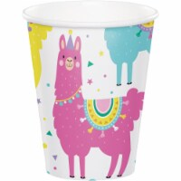 Creative Converting 339582 9 oz Llama Party Cups, 8 Count - 8