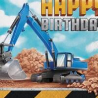 Creative Converting 339794 Big Dig Construction Happy Birthday Napkins, 16 Count - 16